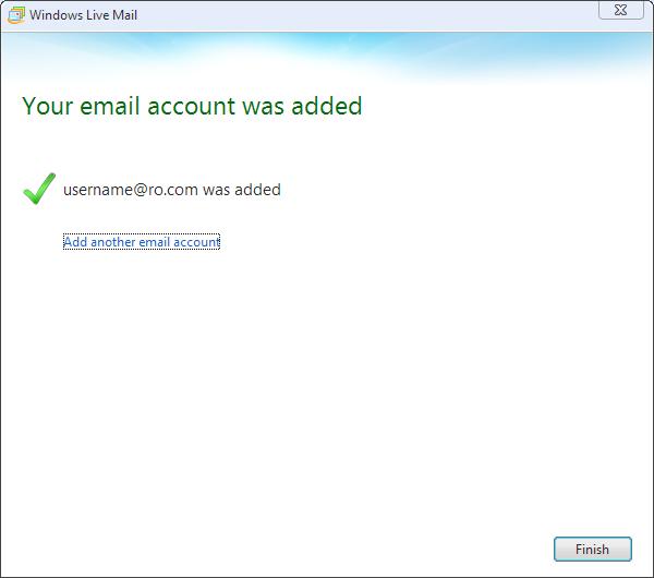 Windows Mail Step 3